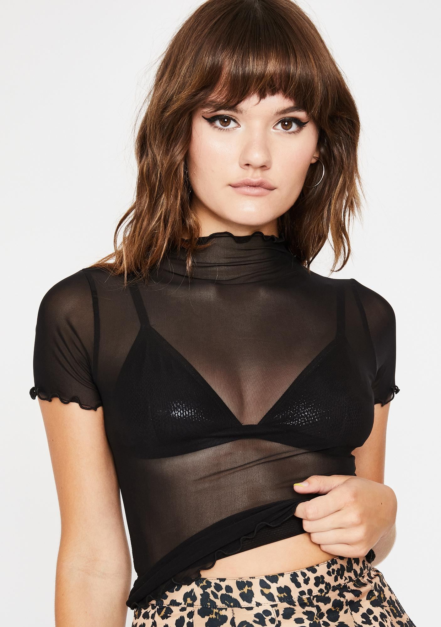 Lil Preview Sheer Top