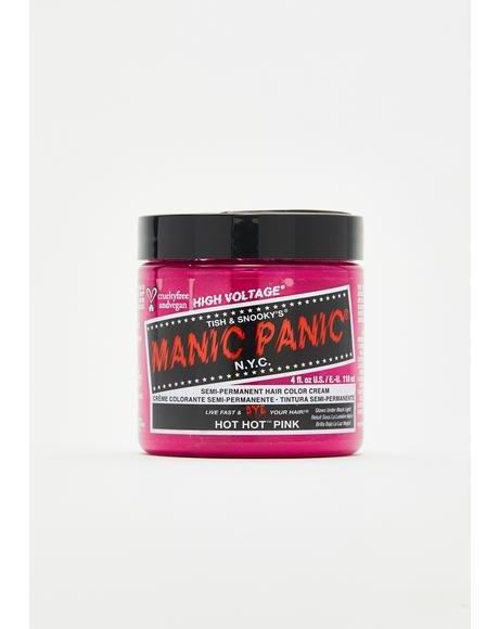 Hot Hot Pink Classic High Voltage UV Hair Dye