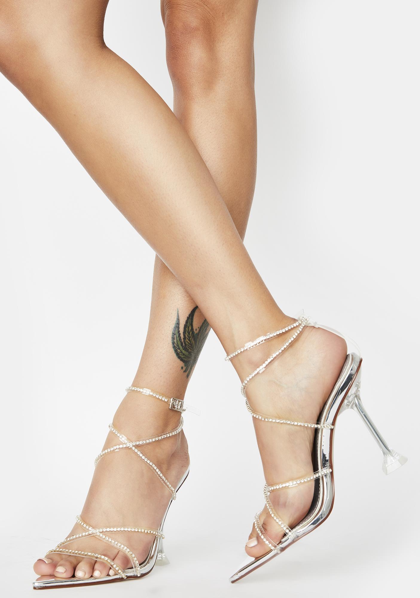 AZALEA WANG Ravenna Rhinestone Heels