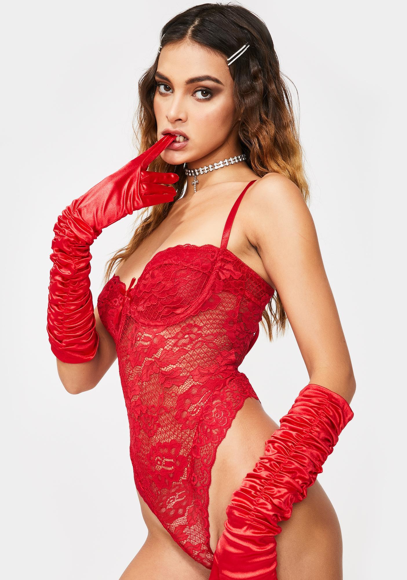Devil Lavish Lust Lace Teddy