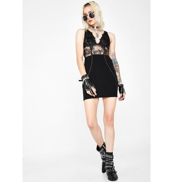 Kiki Riki Lace Luster Mini Dress