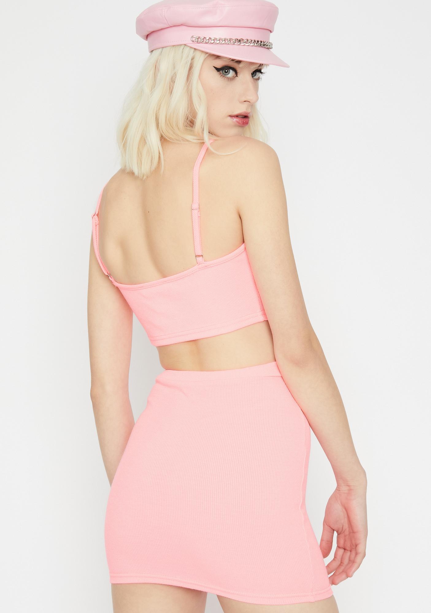 Sweet Rebellious Kitty Skirt Set