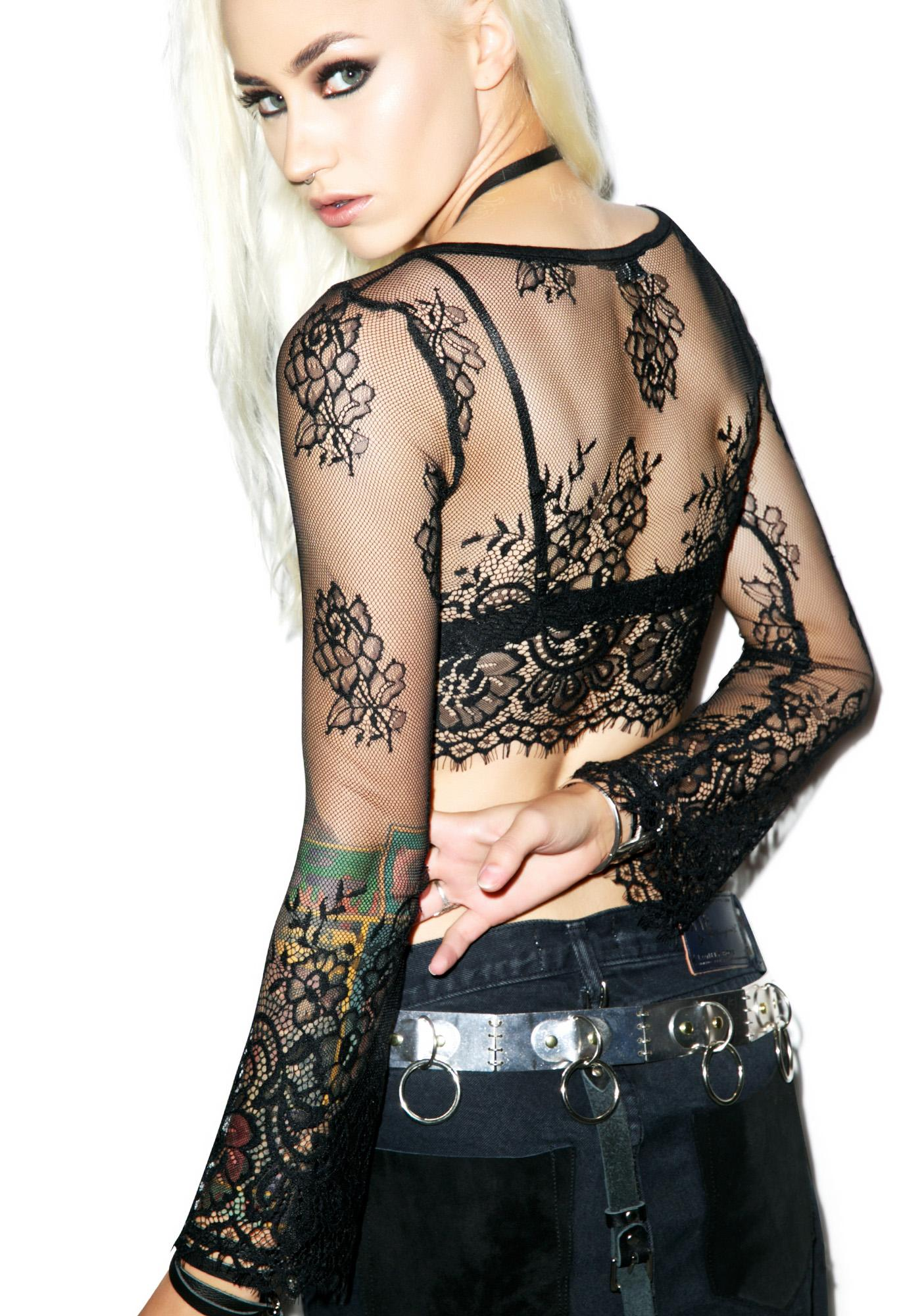 Lindsay Lace Crop Top