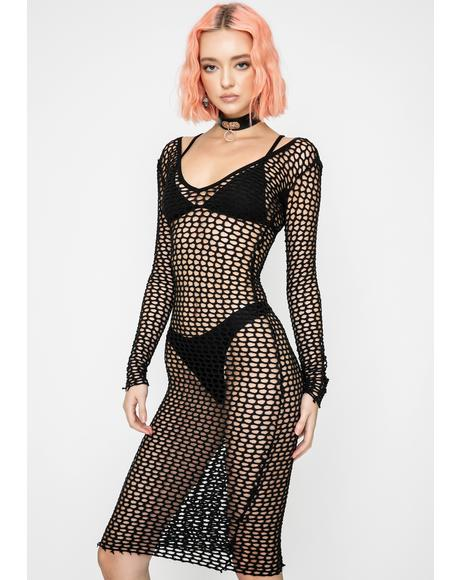 Mic Drop Mesh Dress