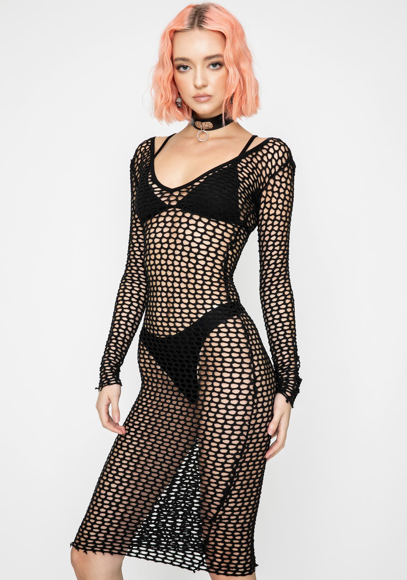 Kiki Riki Mic Drop Mesh Dress