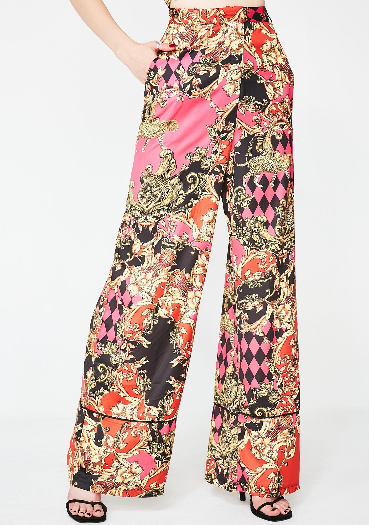 b1284fd4f0 Jaded London Printed Wide Leg Pants | Dolls Kill