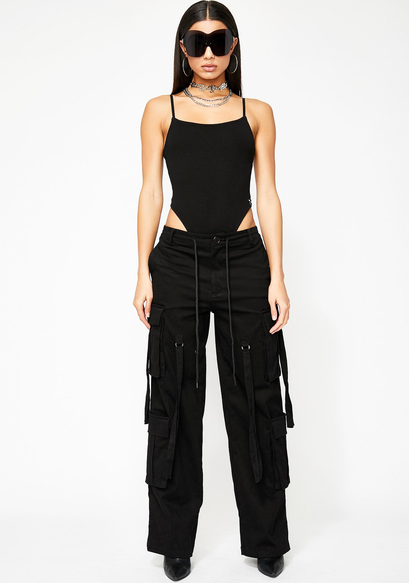Poster Grl Night Supermodel Ribbed Bodysuit