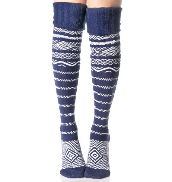 La Mer Thigh High Socks