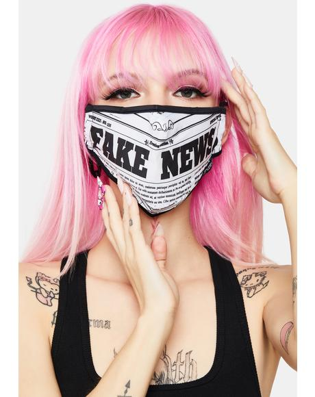 Fake News Face Mask