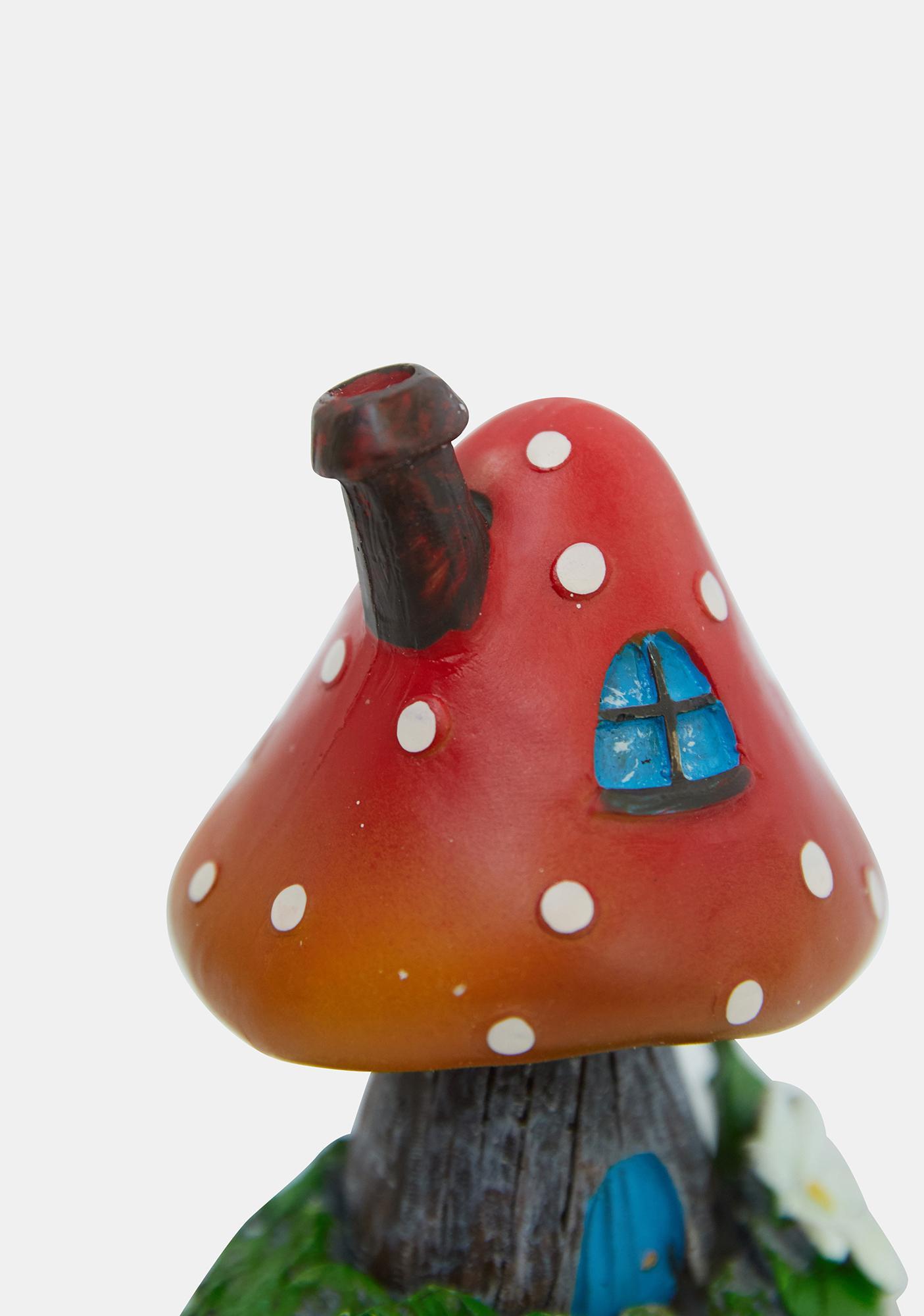 Red Smoking Toadstool Incense Holder