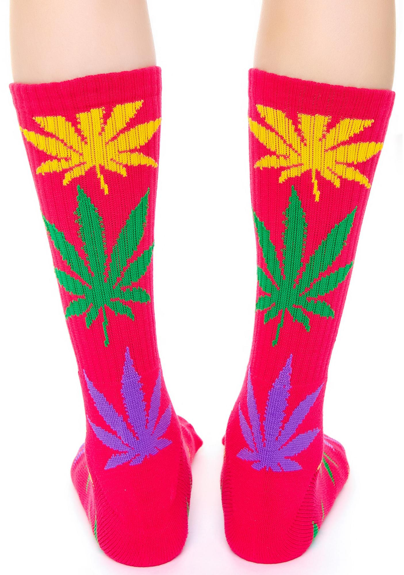 HUF Plantlife Multi Color Sock