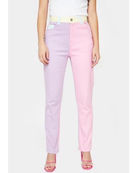Pretty In Pastel Denim Jeans