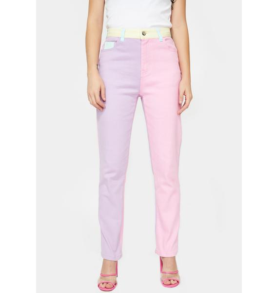 Sugar Thrillz Pretty In Pastel Denim Jeans