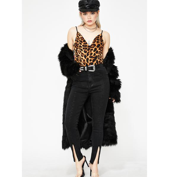 Club Cougar Backless Bodysuit