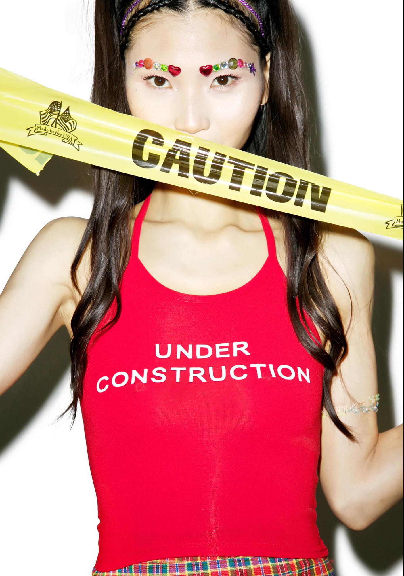 O Mighty Under Construction Halter Top