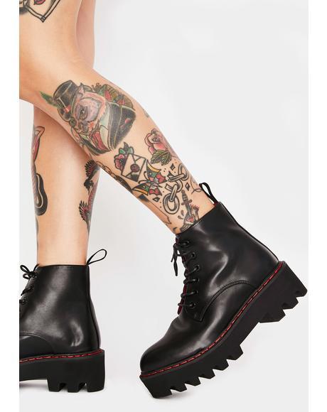 Unforgiven Platform Ankle Boots