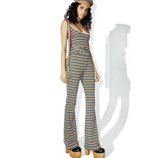 Camp Collection Striped Bell Bottoms