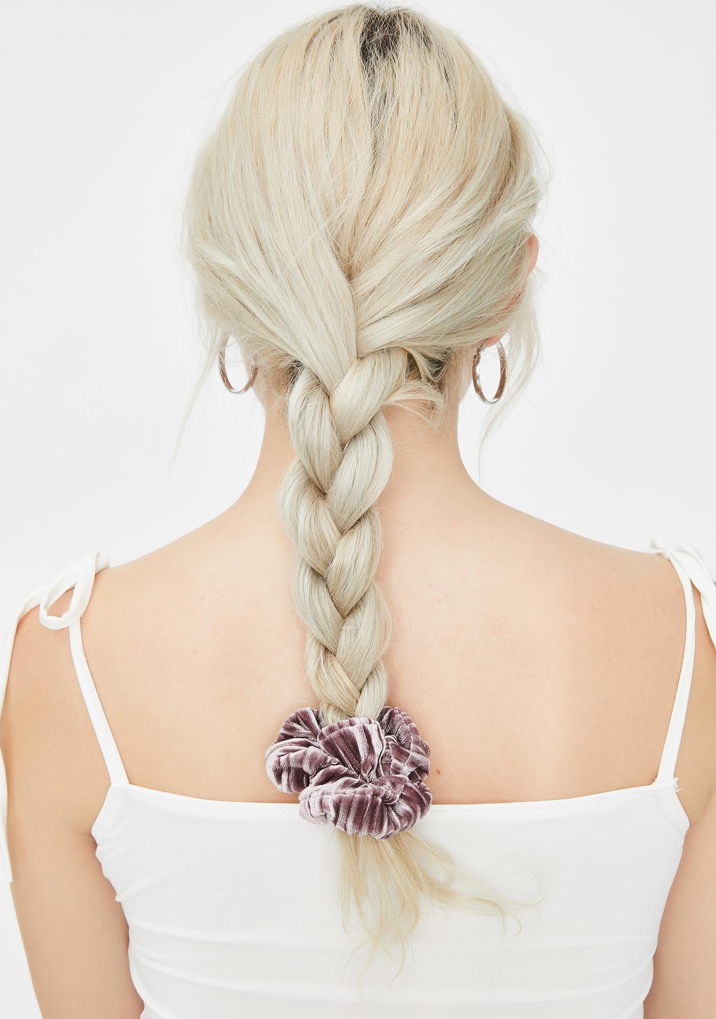 Dusty Rose Velvet Scrunchies