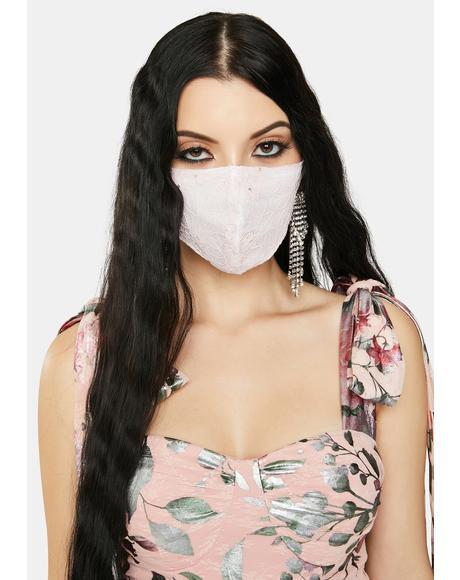 Blush Refined Taste Lace Face Mask