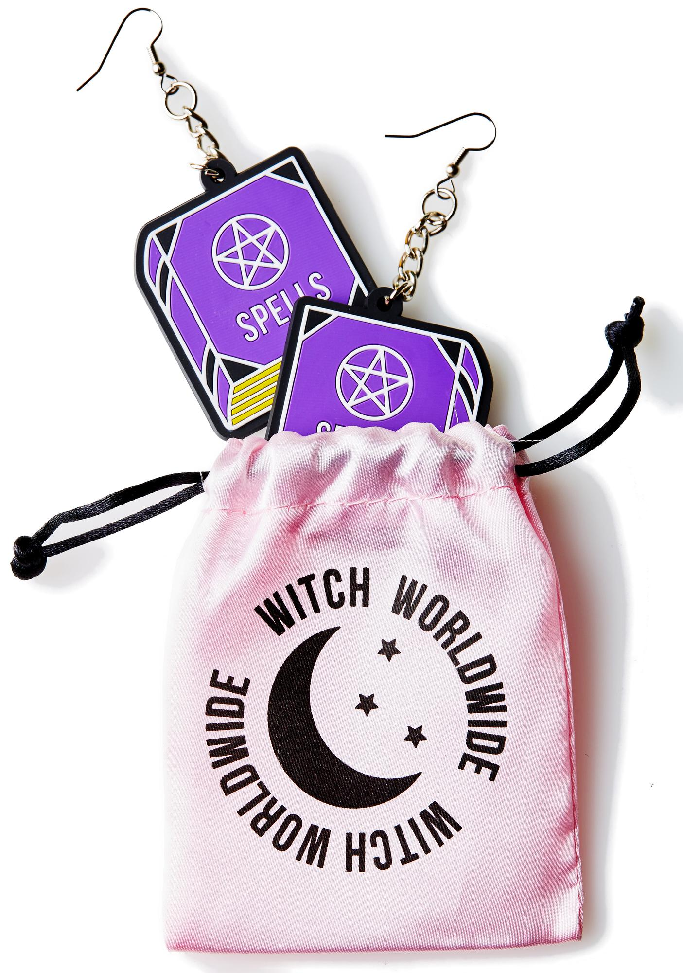 Witch Worldwide Spell Book 3D Silicone Earrings
