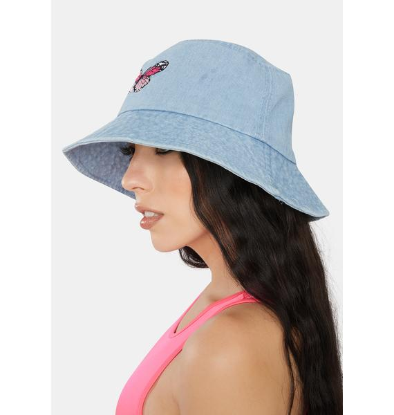 Aqua Flight Risk Denim Bucket Hat