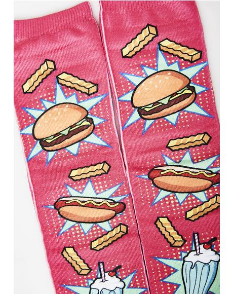 Munchiez Please Crew Socks