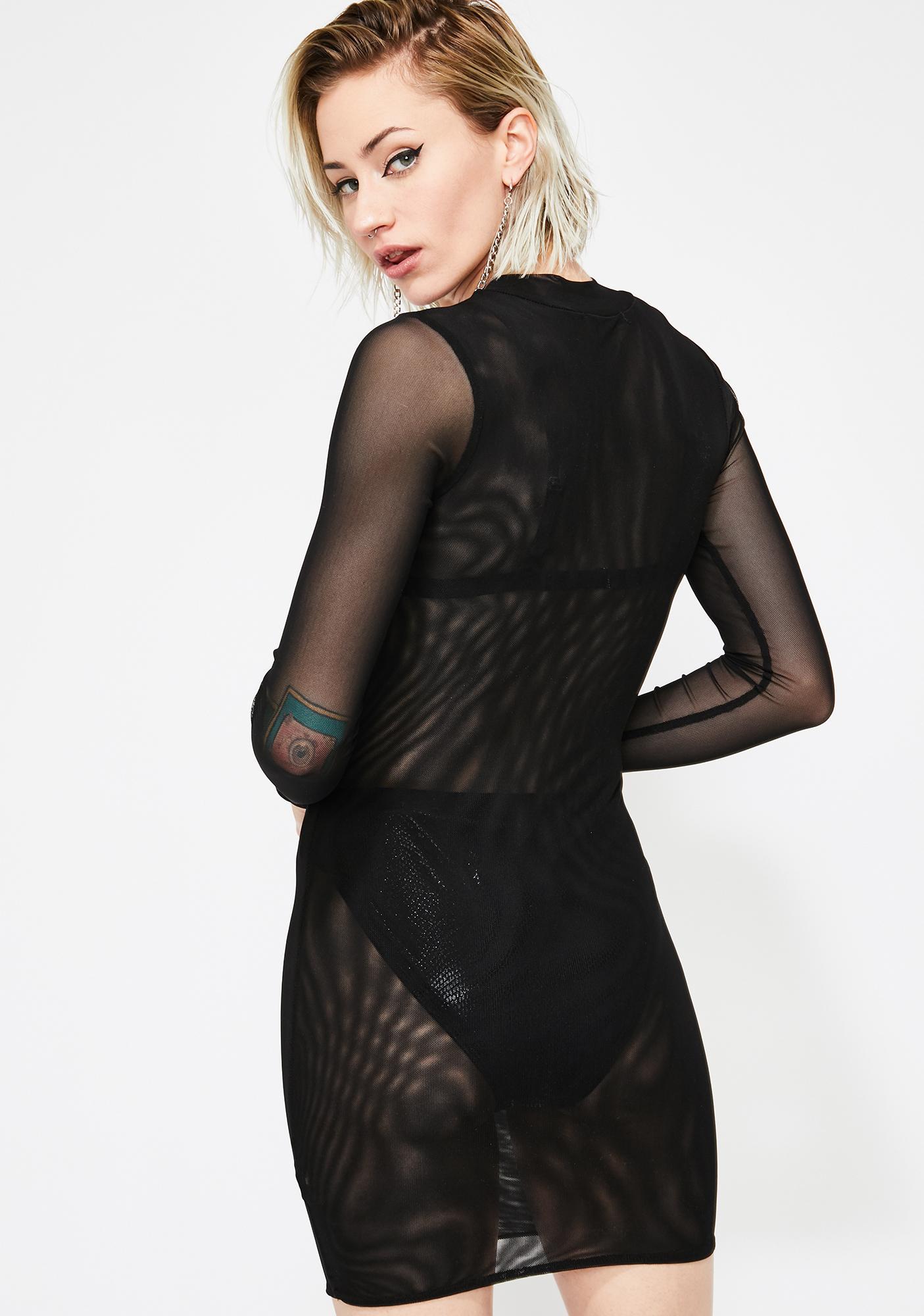 Night Meshin' Around Bodycon Dress