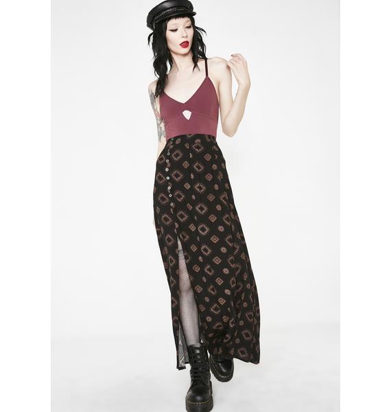 Lira Clothing Crimson Cross Me Up Bodysuit