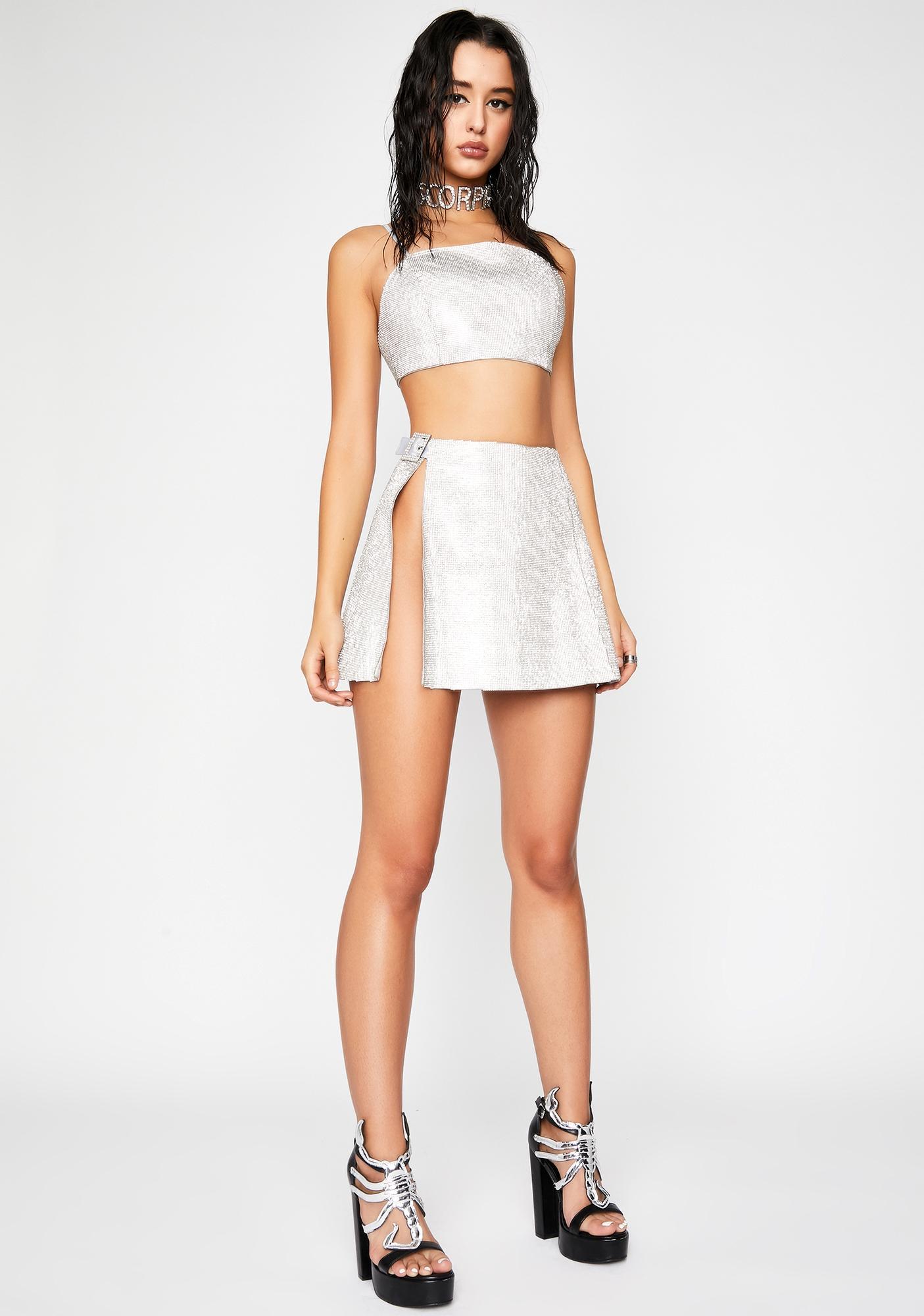 HOROSCOPEZ Crystalline Control Rhinestone Skirt