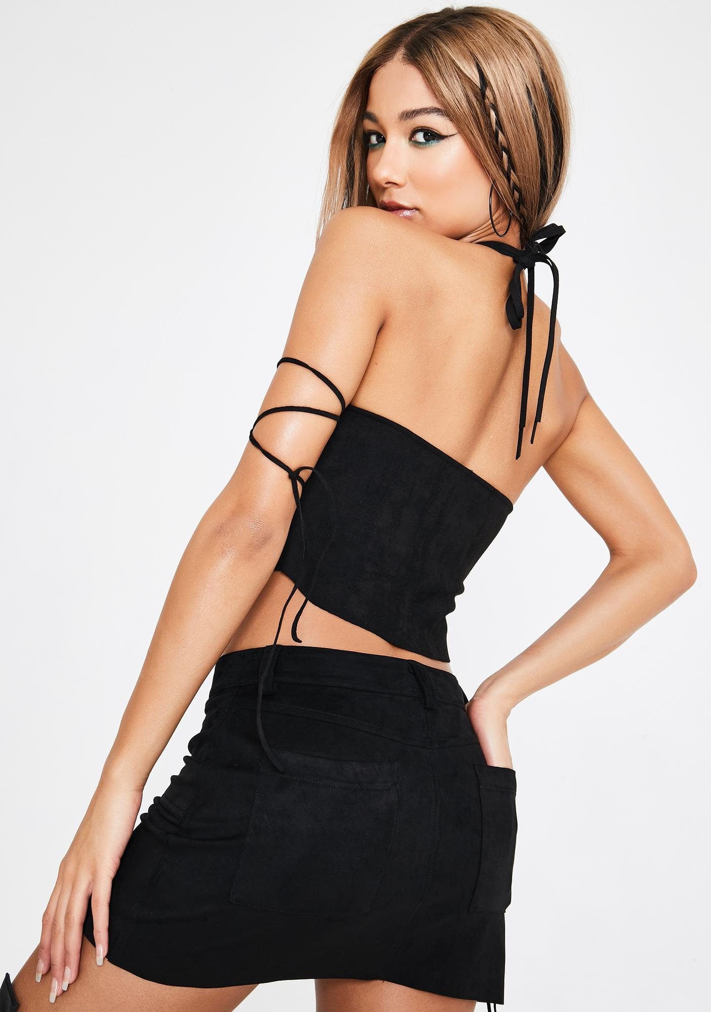 Club Exx Cowgirl Crusader Lace-Up Skirt