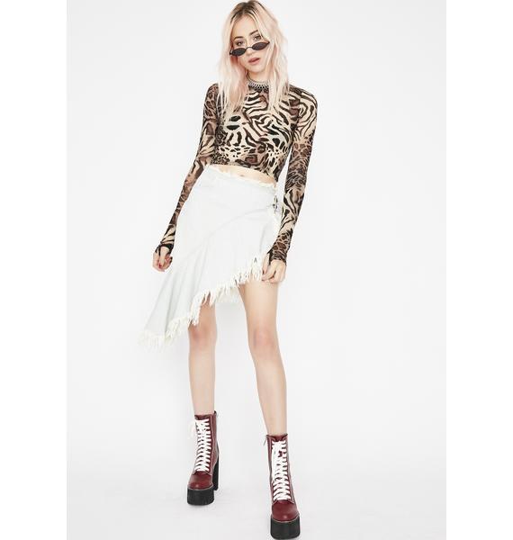 Raw Talent Denim Skirt