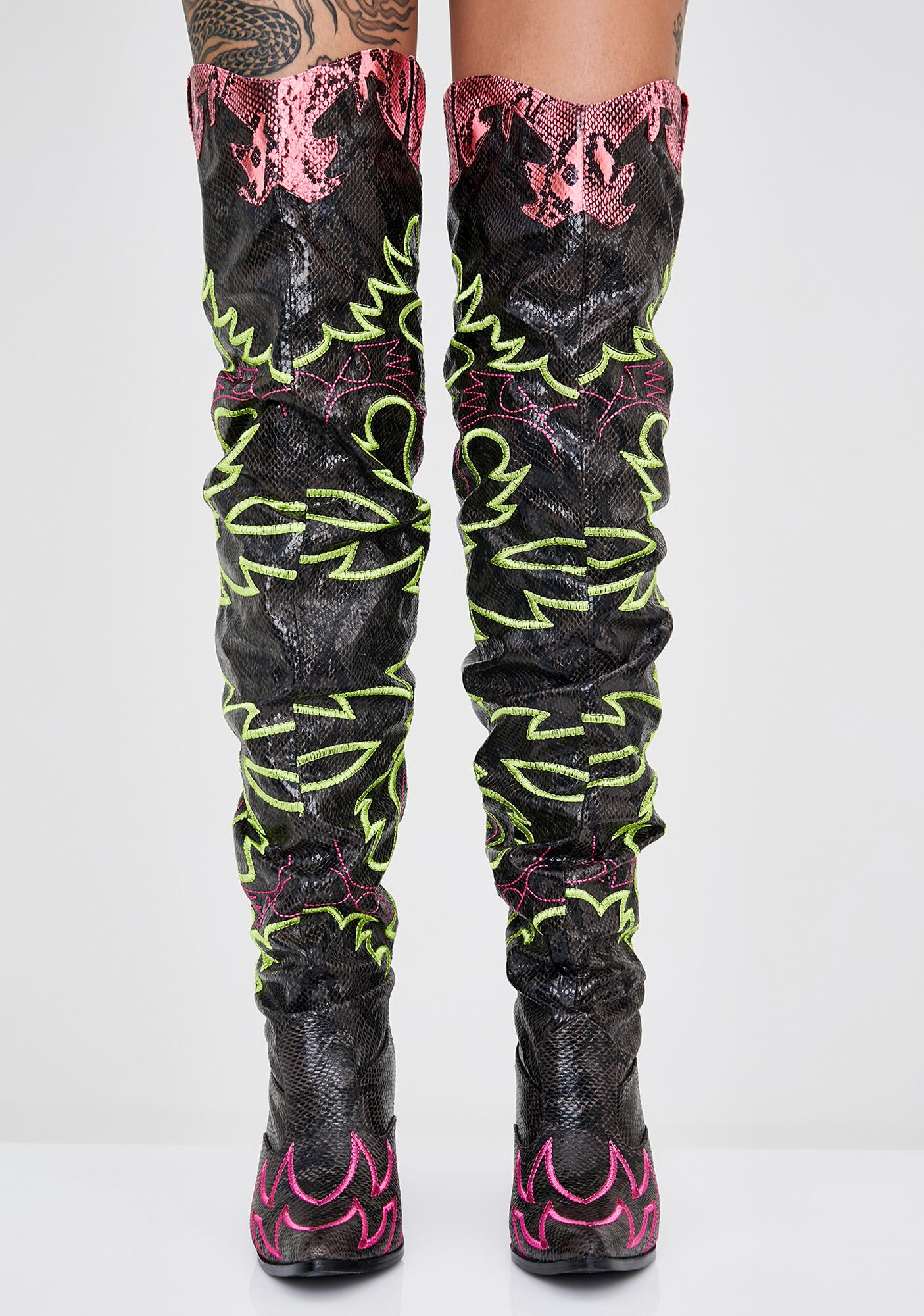 Atomic Love Bandit Cowgirl Boots