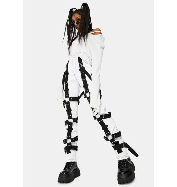 Tripp NYC White Harness Pants
