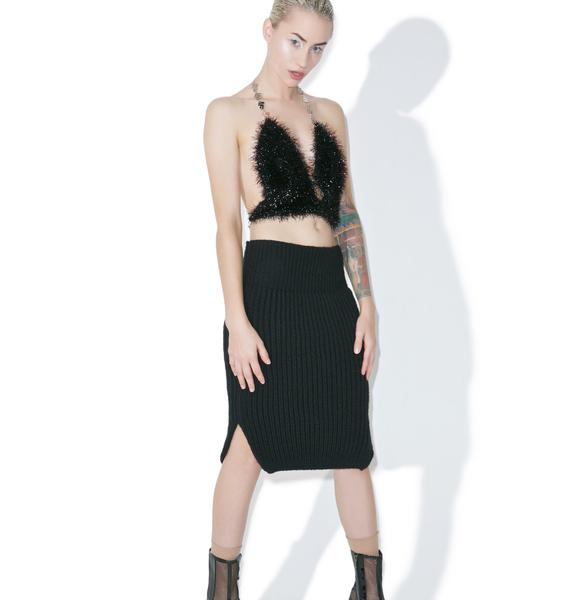 Maria ke Fisherman Noir Knit Skirt