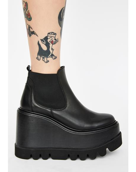 City Slicker Leather Platform Boots