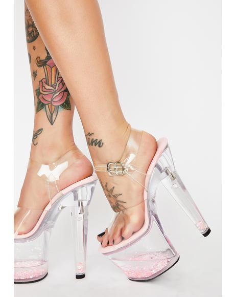 Pretty Lovesick Damsel Platform Heels