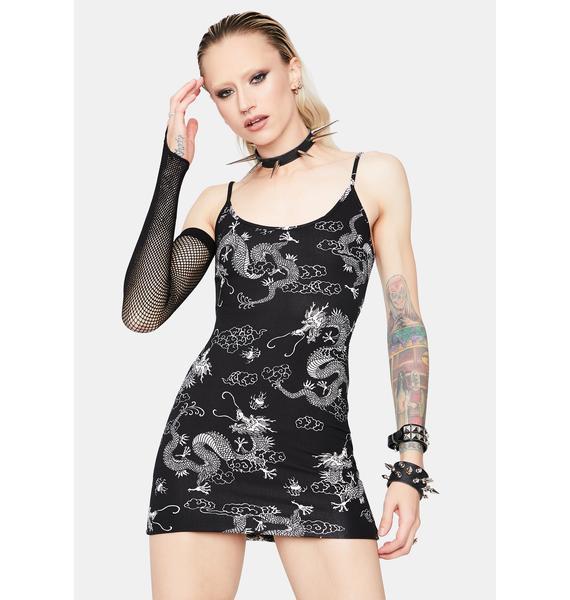 Onyx Rad Tales Dragon Bodycon Dress