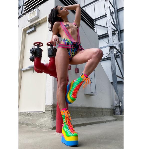 Pixie Built To Rebel Reflective Suspender Harness