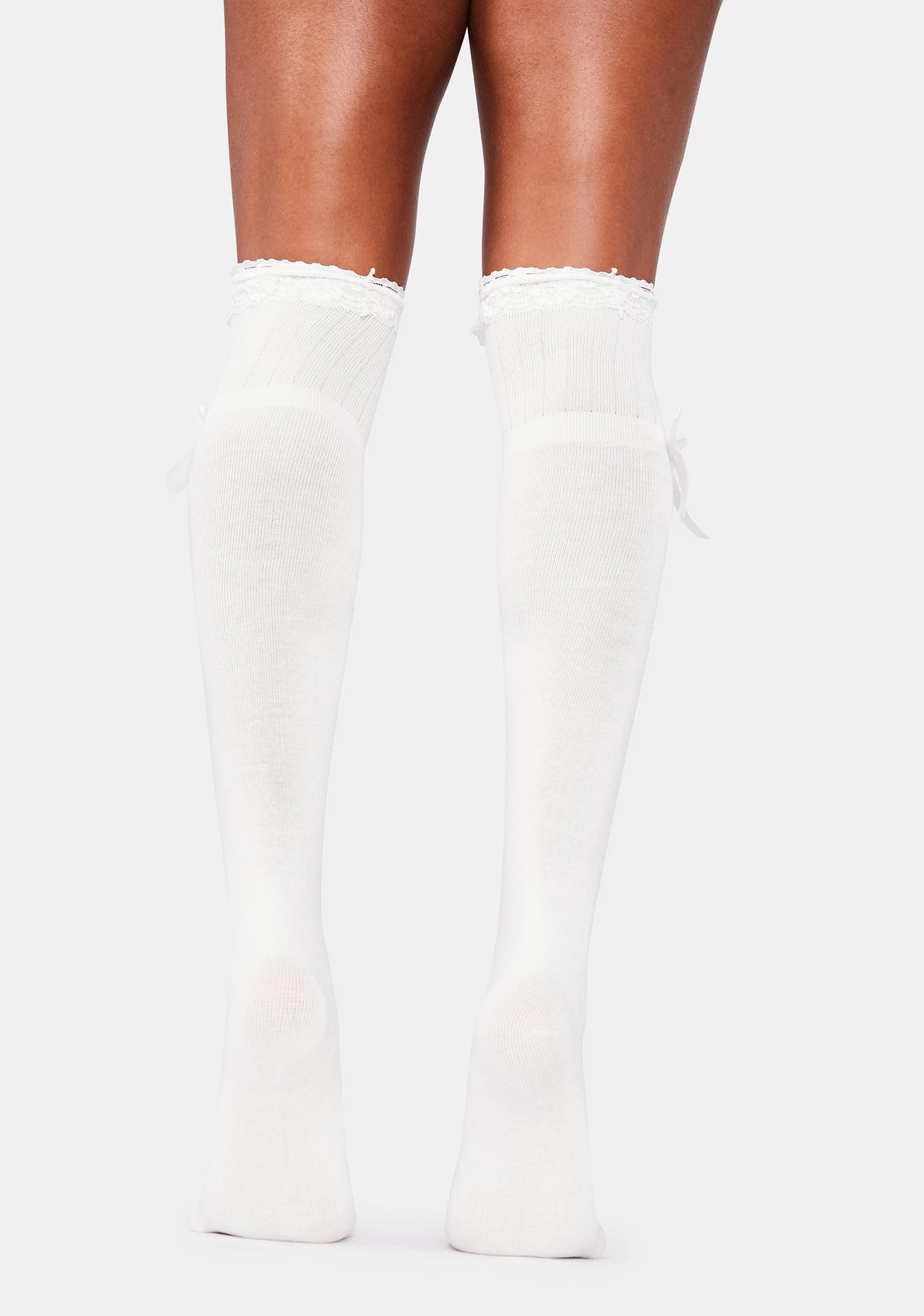 Little Miss Moody Over The Knee Socks