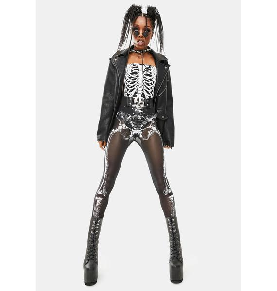 Trickz & Treatz Skeletal Sass Mesh Leggings