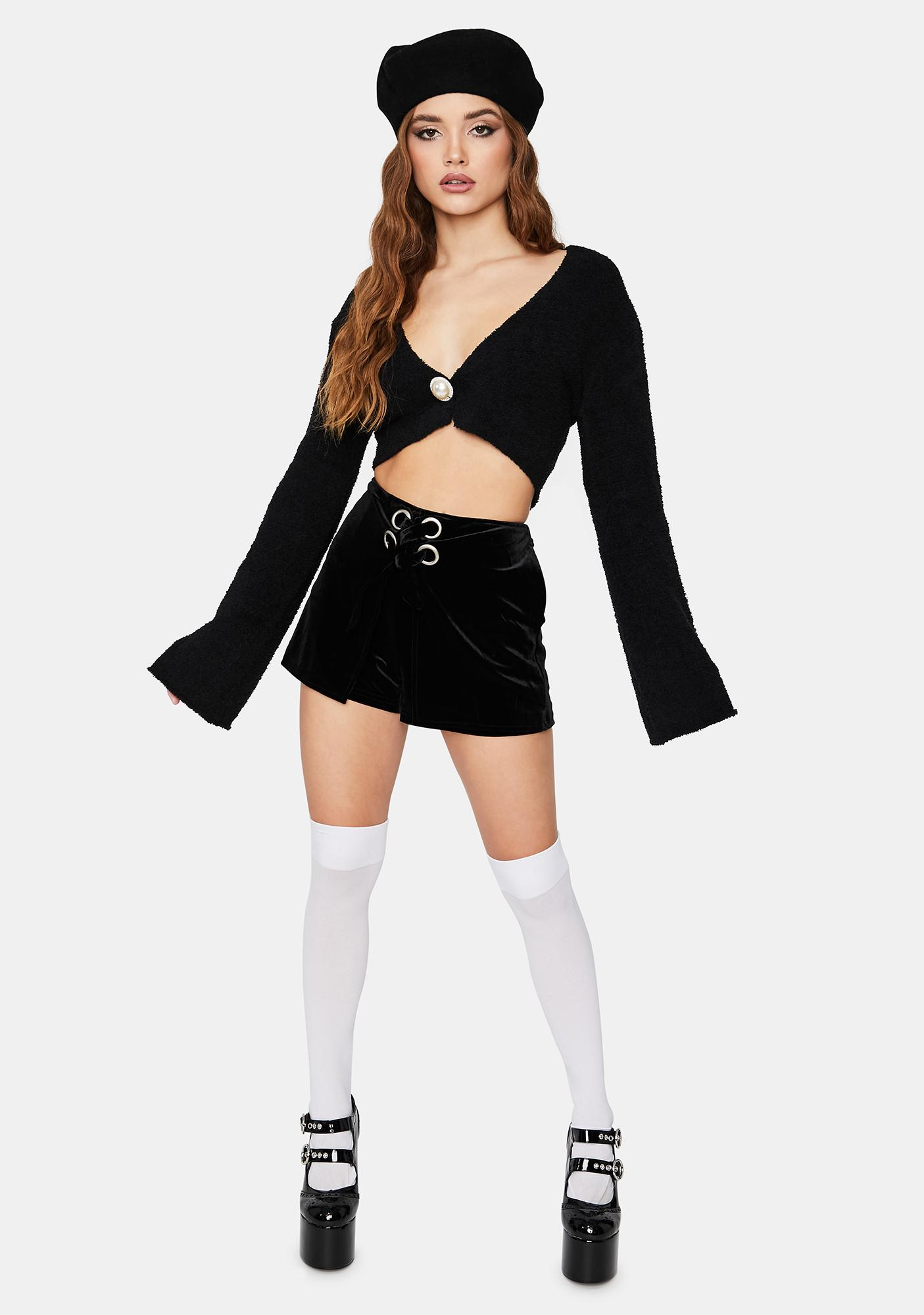 Glam Me Up Fuzzy Crop Sweater