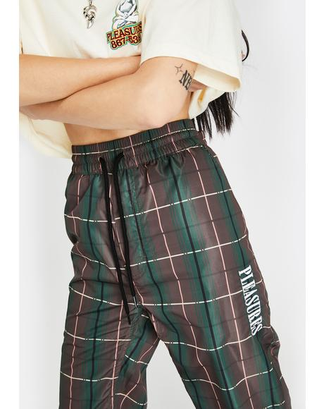 Wonder Plaid Track Pants