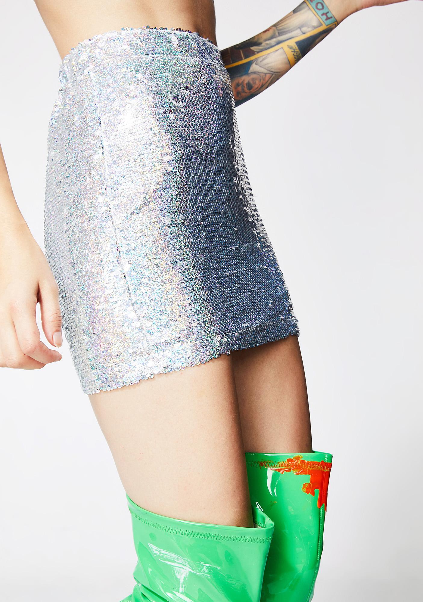 Keep It Sparkled Mini Skirt