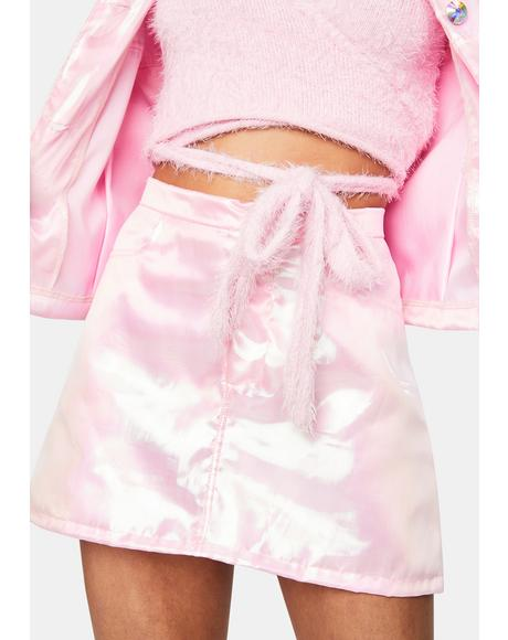 Light Pink Fairy Dust Mini Skirt