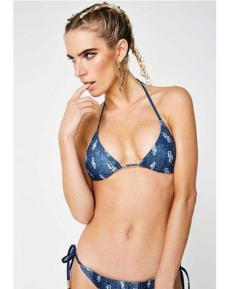 Just Own It Denim Bikini Set