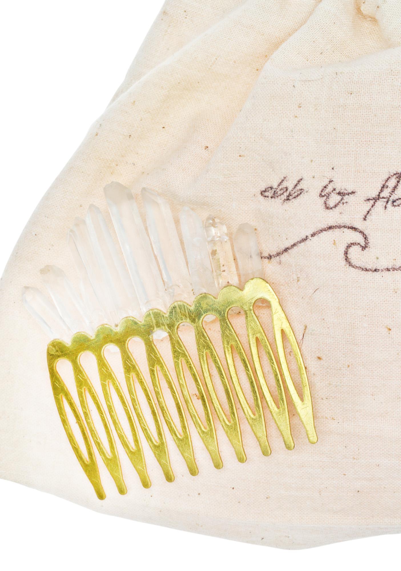 Ebb & Flow Quartz Crystal Hair Comb