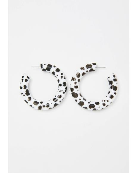 Bunch Of Bull Hoop Earrings