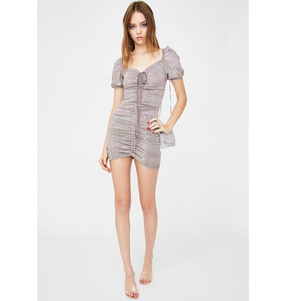 ZEMETA Fountain Spark Ruched Mini Dress