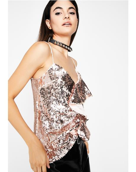 Night Lyfe Sequin Top