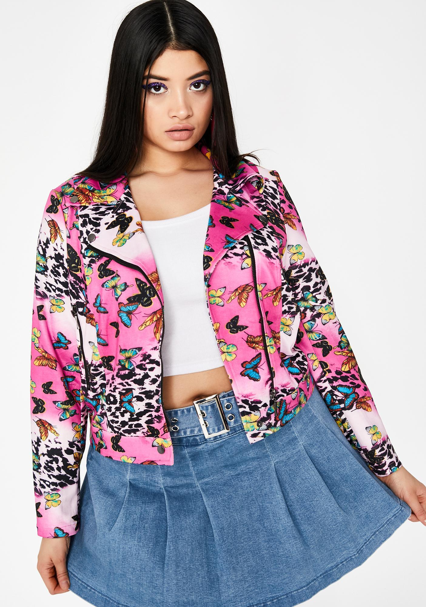 Sweet Her Fluttering Euphoria Moto Jacket